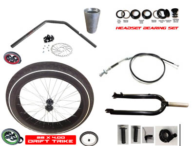 Drift Trike Fat Wheel Full Front End Kit