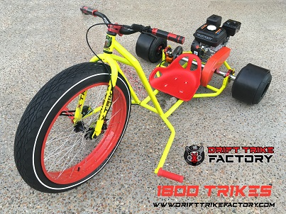 Charming Motorised Drift Trike Yellow Red